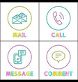 forms of people feedback icon set in outline style vector image