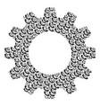 gear wheel mosaic of call icons vector image vector image
