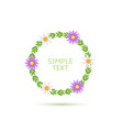 green spring wreath vector image