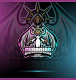 guardian angel esport mascot logo design vector image vector image