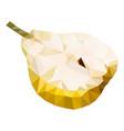 half of pear polygonal low vector image