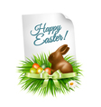 Happy Easter background Colorful easter eggs and vector image vector image
