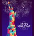 happy new year 2019 america color triangle hipster vector image vector image
