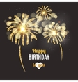 holiday poster Happy Birthday vector image vector image