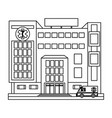 hospital building scenery in black and white vector image