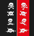 jolly roger flags vector image vector image