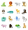Jungle Animals Set vector image