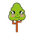 kawaii cute happy tree ecology vector image vector image