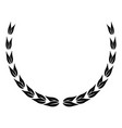 laurel wreath victory decoration leaves vector image vector image