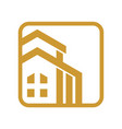 luxury house gold round square vector image
