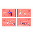 male health landing page template set tiny vector image vector image