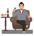 Man and Wine vector image vector image