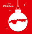 merry christmas theme with map of anaheim vector image vector image