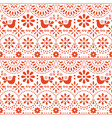 mexican folk art seamless pattern birds vector image vector image