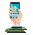 mobile banking design vector image