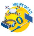 Modern gadgets isometric