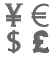Money signs vector image vector image