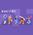 motivation flat card text dance party concept vector image vector image