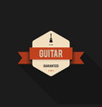 music badge and label design vintage retro style vector image