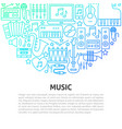 music line concept vector image