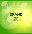 natural kiwi juice concept background realistic vector image