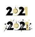 new year emblem 2021 number design vector image vector image