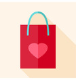 Paper package with heart vector image