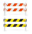 Road barriers vector image vector image