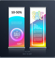 sale banner abstract business of roll up vector image