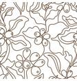 seamless pattern art line coffee tree