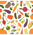 seamless pattern with fresh tasty organic vector image vector image