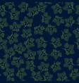 seamless pattern with linden vector image