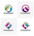 set home beauty logo design template icon