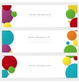 Set of abstract template banner with color circles vector image vector image