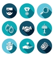 Set of Pawnshop Icons Appraiser Jewel vector image vector image