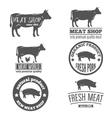 set vintage labels logo emblem templates vector image vector image