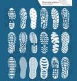 shoe prints vector image vector image