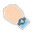 smart watch wearable wifi connection vector image vector image