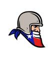 texan bandit wearing bandana texas flag mascot vector image vector image