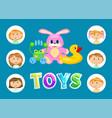 toys and children kindergarten kids or toddlers vector image vector image