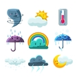 Weather Forecast Pictures Set vector image vector image