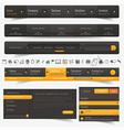 Web site template navigation elements vector image vector image
