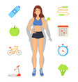 weight loss and sport diet vector image