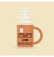 workaholic mug vector image vector image