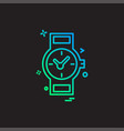 wrist watch icon design vector image
