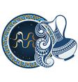 Zodiac signs - Aquarius vector image vector image