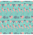 Patriotic seamless pattern for Independence Day vector image