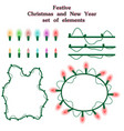 christmas and new year collection of garlands vector image