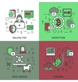 Internet Security Square Icon Set vector image