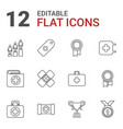 12 first icons vector image vector image